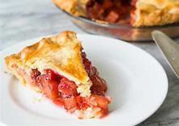 Strawberry Rhubarb Pie (Baked by Jersey Hollow farm)