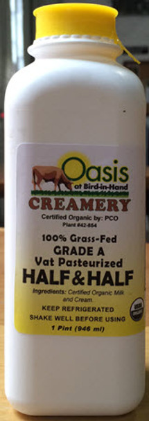 Oasis Organic Grass-Fed Half and Half