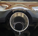 """Dodge 2.5"""" stainless """"through bumper"""" adapters with double rolled tips"""