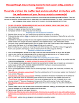 Single 3in Exhaust Kit Instructions