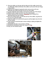 91-96 Jeep Wrangler Single Exhaust Kit Instructions