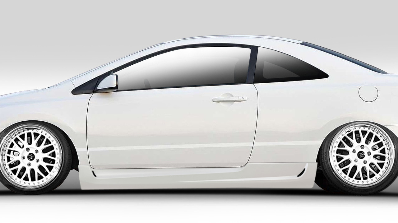 Compatible With Civic 2006-2011 Brightt Duraflex ED-BKZ-233 Type M Side Skirts Rocker Panels 2 Piece Body Kit