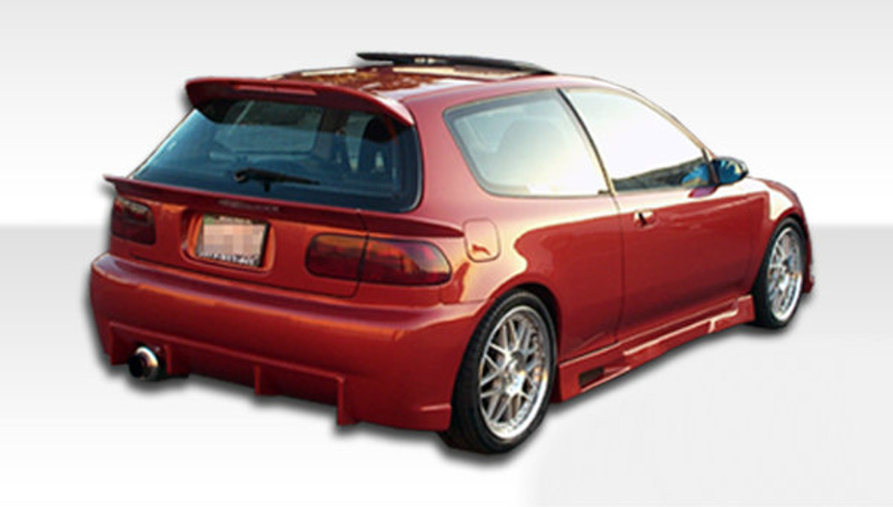 Free Shipping On Duraflex 92 95 Honda Civic HB Mid Wing Trunk Lid Spoiler Kit