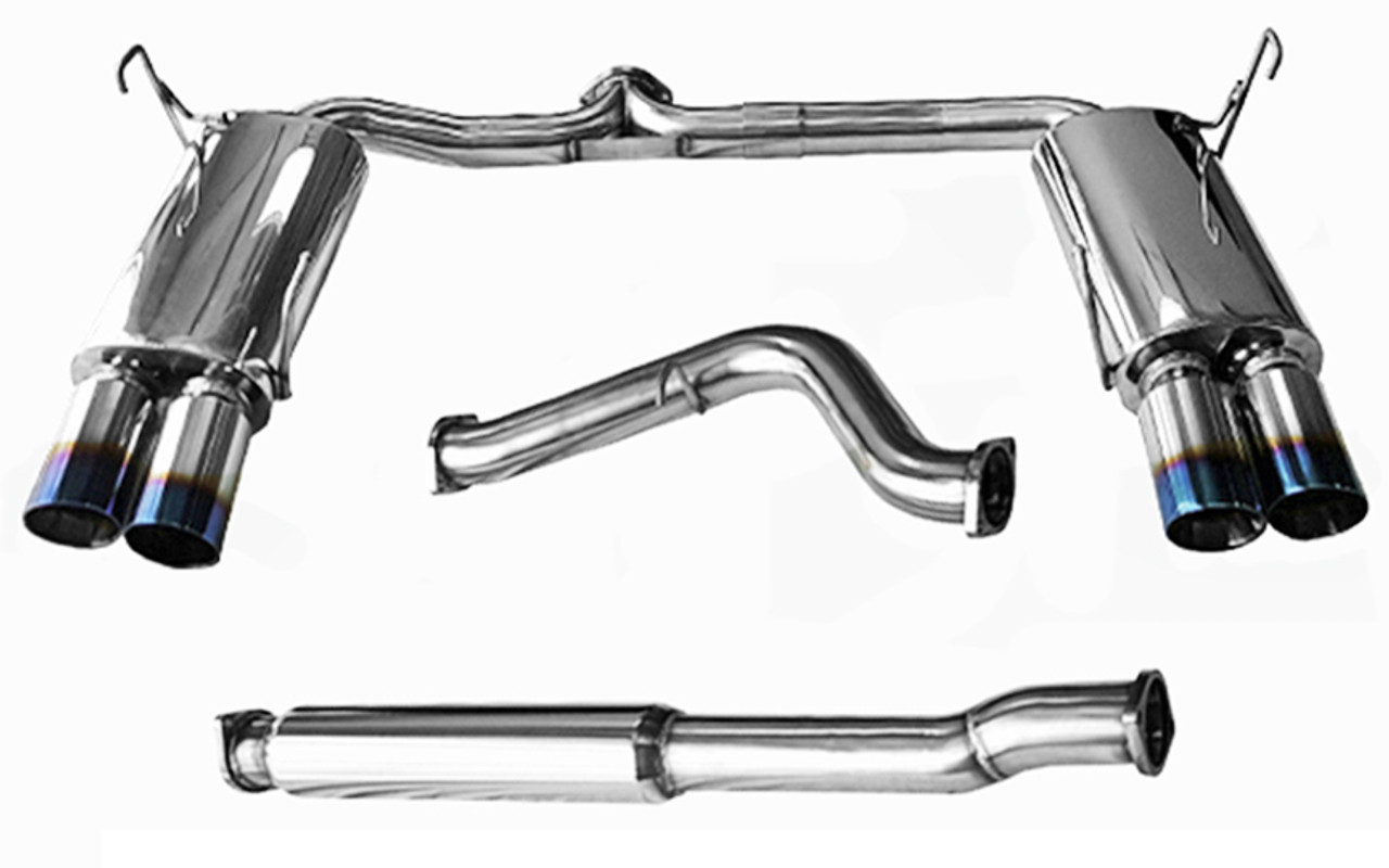 For 15-17 Subaru WRX//STI 3 inches Quad Muffler Tip Stainless Steel Catback Exhaust System