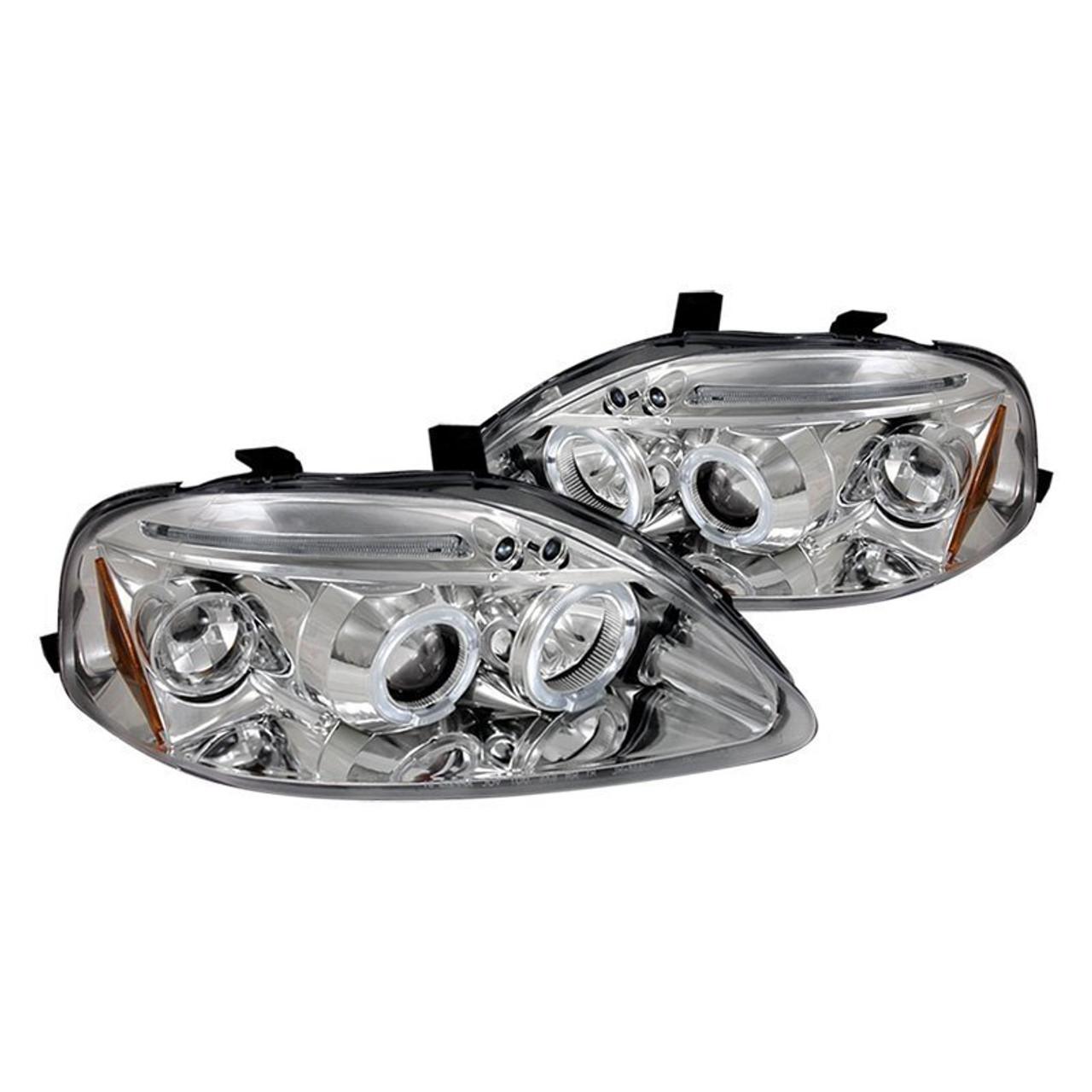 Free Shipping On Junyan 99 00 Civic Halo Projector HeadLights