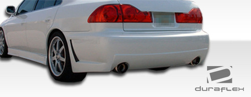 1 Piece Extreme Dimensions Duraflex Replacement for 1998-2002 Honda Accord 4DR Spyder Rear Bumper Cover