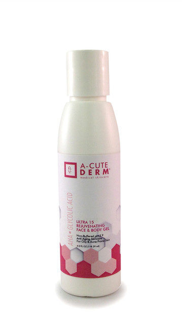 A-CUTE DERM Ultra 15 Rejuvenating Face & Body Gel 1oz
