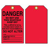 Accuform TSS101CTP Scaffold Status Safety Tag: Danger - Do Not Alter