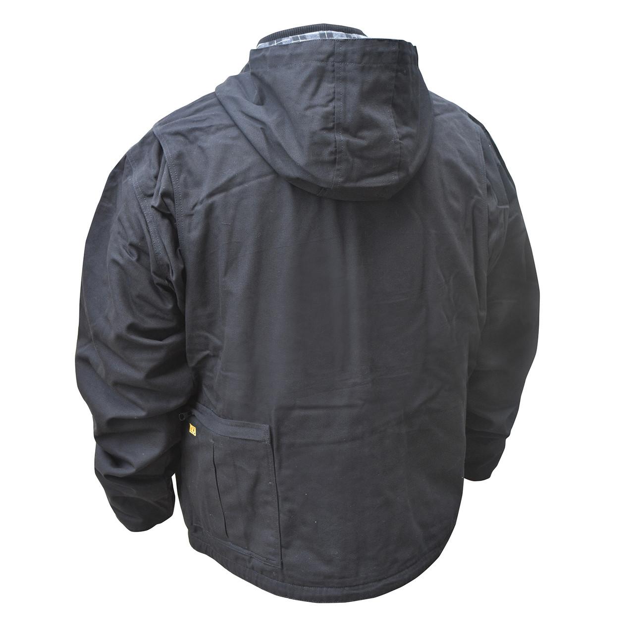 DEWALT DCHJ076ABB-XL Heated Heavy Duty Work Coat Black XL