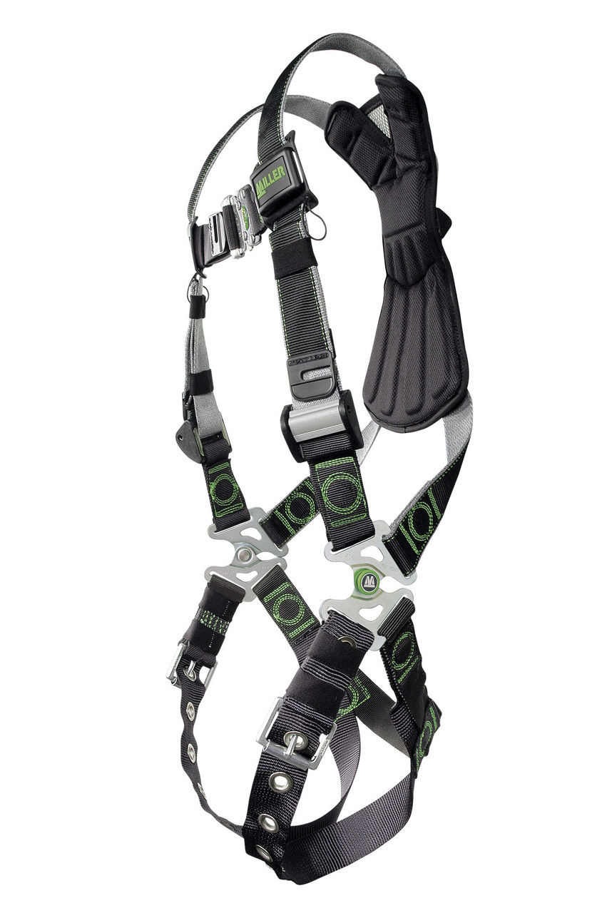 Small//Medium Black Miller RKN-QC//S//MBK Revolution Harness with Kevlar-Nomex Webbing and Quick-Connect Leg Buckles