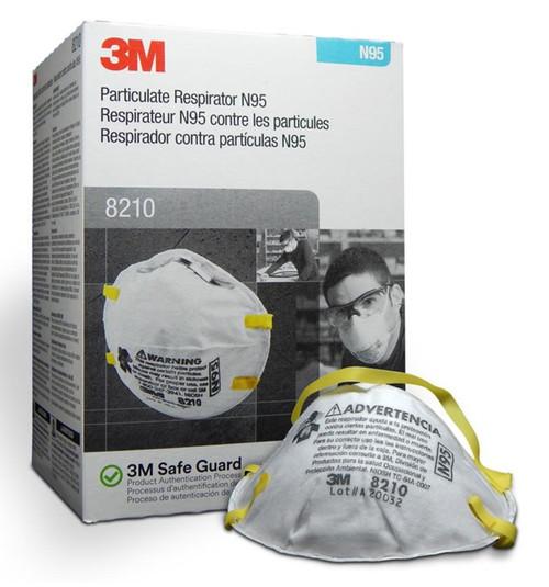 3M 8210 N95 Particulate Respirator (Box/20)