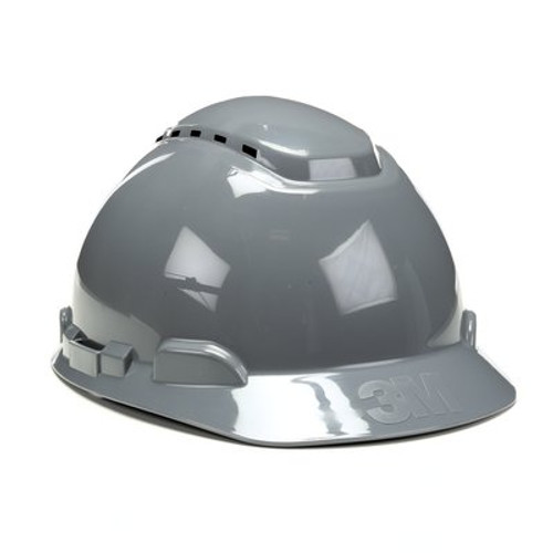 3M H-708V-UV Gray Cap Style Vented Hard Hat with Uvicator  20 EA/Case