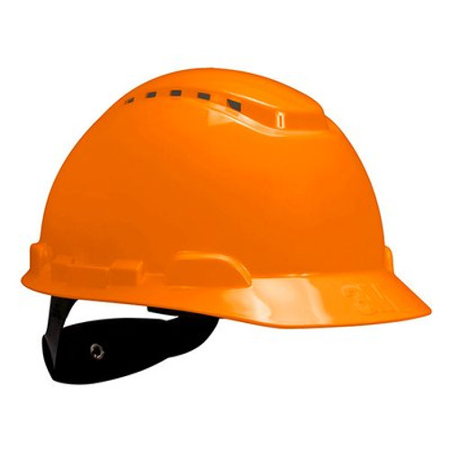 3M H-706V-UV Orange Cap Style Vented Hard Hat with Uvicator 20 EA/Case