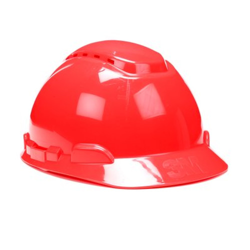 3M H-705V-UV Red Cap Style Vented Hard Hat with Uvicator 20 EA/Case