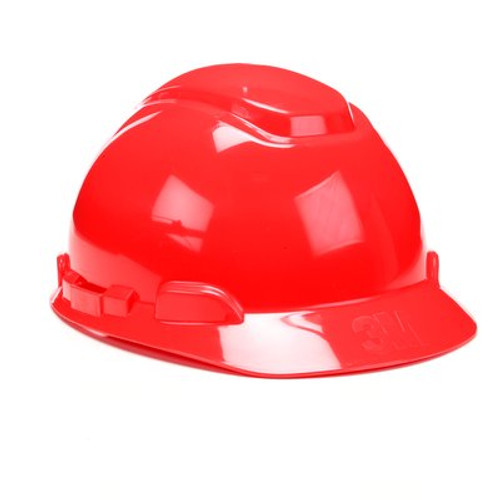 3M Red Cap Style Hard Hat 4 PT Ratchet with Uvicator 20 EA/Case