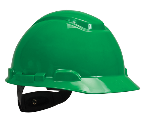 3M Green Cap Style Hard Hat 4 PT Ratchet with Uvicator 20 EA/Case