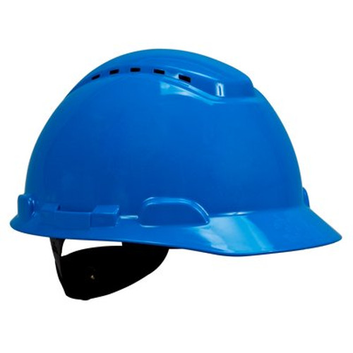 3M H-703V-UV Blue Cap Style Vented Hard Hat with Uvicator 20 EA/Case