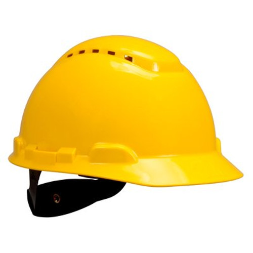 3M H-702V-UV Yellow Cap Style Vented Hard Hat with Uvicator 20 EA/Case
