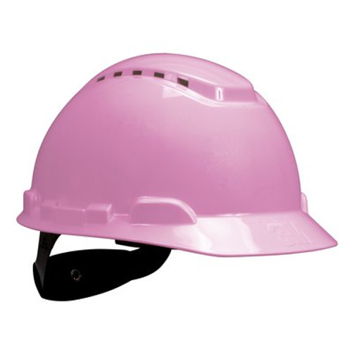 3M H-713V-UV Pink Cap Style Vented Hard Hat with Uvicator 20 EA/Case
