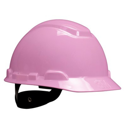 3M Pink Cap Style Hard Hat 4 PT Ratchet with Uvicator  20 EA/Case
