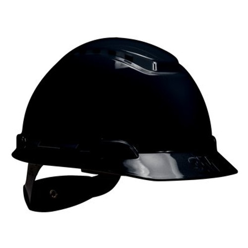 3M H-712V-UV Black Cap Style Vented Hard Hat with Uvicator 20 EA/Case