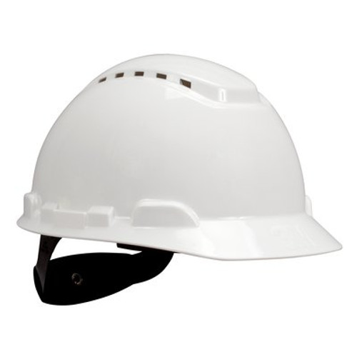 3M H-701V-UV White Cap Style Vented Hard Hat with Uvicator  20 EA/Case