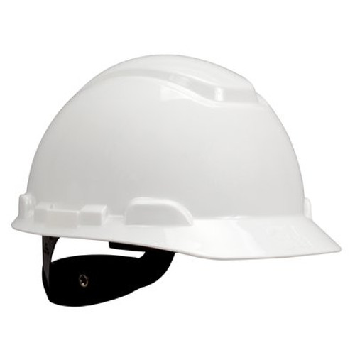 3M White Cap Style Hard Hat 4 PT Ratchet with Uvicator  20 EA/Case