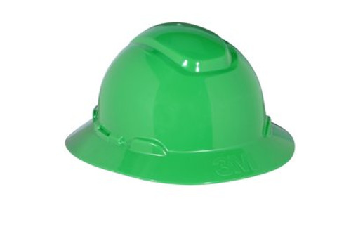 3M Green Full Brim Hard Hat 4 PT Ratchet with Uvicator 20 EA/Case