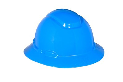 3M Blue Full Brim Hard Hat 4 PT Ratchet with Uvicator 20 EA/Case