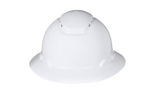 3M Full Brim Hard Hat 4 PT Ratchet Vented with Uvicator 20 EA/Case