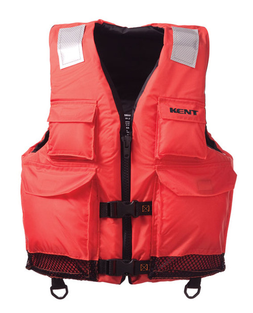 Kent 150200-200 Elite Dual-Sized Commercial Orange Life Vest
