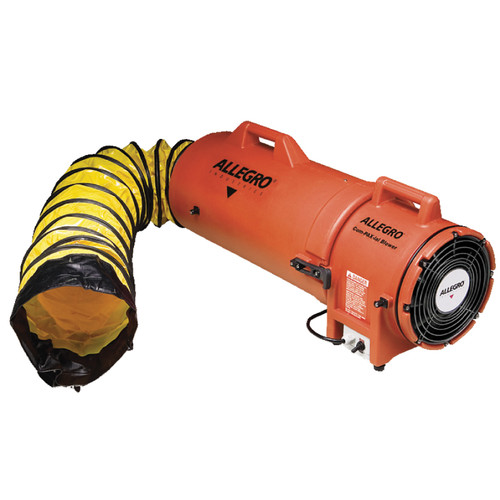 "Allegro COM-PAX-IAL 8"" AC Plastic Blower with 15' Ducting - 9533-15"