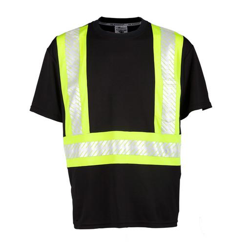 ML Kishigo B200 Enhanced Visibility Contrast Black T-Shirt