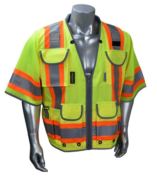 Radians SV55-3Z Class 3 Heavy Woven Hi Viz  Engineer Vest
