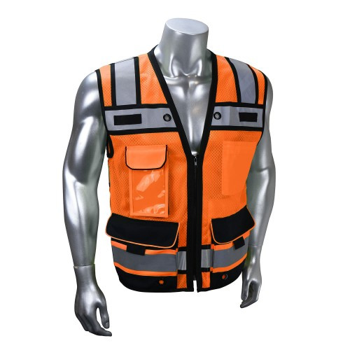 Radians SV65 Type R Class 2 Orange Heavy Duty Surveyor With Zipper