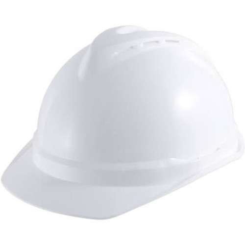 MSA 10034027 White Vented V-Gard 500 Cap With 6 Point Fas-Trac III