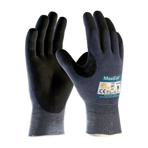 Maxicut Ultra 44-3745 Seamless Knit Engineered Yarn Glove w/ Nitrile MicroFoam Grip