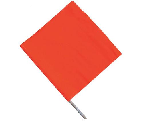 "Cortina 03-229-3417 Vinyl Handheld Warning Flag 18"" W x 18"" H"