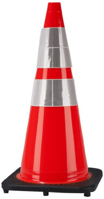 Cortina 03-500-10 Traffic Cone with Black base and Reflective Collar