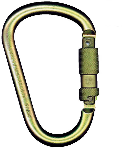"MSA Steel Carabiner with 1"" Gate Opening"