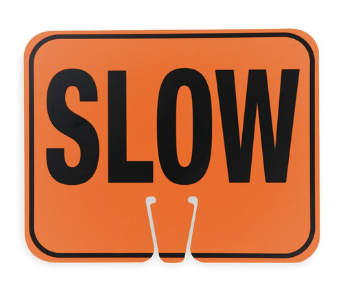 "Cortina 03-550-S ABS Plastic Traffic Cone Sign ""SLOW"" 11"" W x 13"" H"