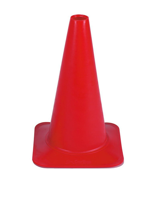 "Cortina 03-500-36 Polyethylene Sport Cone, 18"" Height, Red"