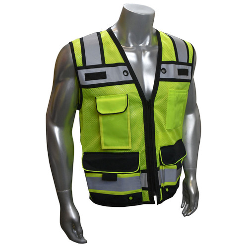 Radians SV65 Type R Class 2 Heavy Duty Surveyor Safety Vest with Zipper