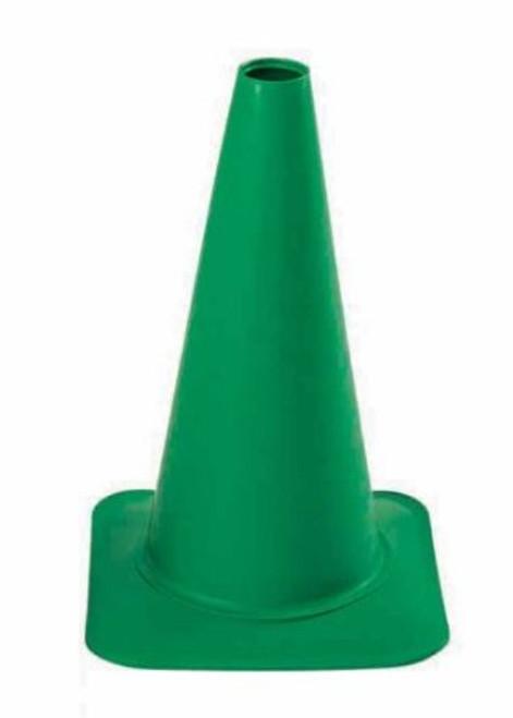 "Cortina 03-500-40 Polyethylene Sport Cone, 18"" Height, Green"