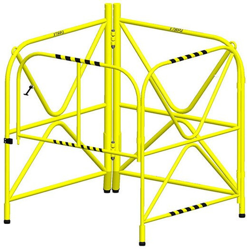 """MSA IN-2108 XTIRPA Manhole Guard With Integrated Mast 42"""""""