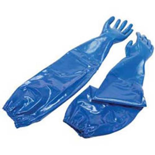 """Honeywell B310157 Shoulder-Length, Knit-Lined Nitrile Gloves, 24""""L"""