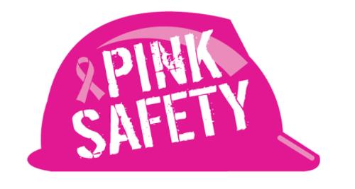 Hard Hat Sticker - Breast Cancer Awareness