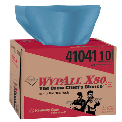 WYPALL 41041 Fast Absorbing Wipes with HYDROKNIT (160 Wipes/Bx)