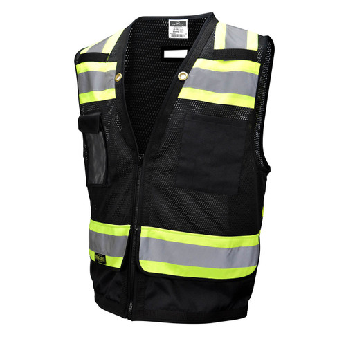 Radians SV59-1ZBM Type O and Class 1 Heavy Duty Surveyor Black Safety Vest