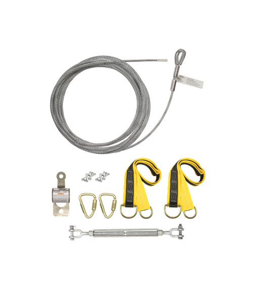 Falltech 60260A Temporary Cable HLL System w/ Pass-through Anchors